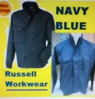 Mens NAVY BLUE  work/driver jacket, TOP BRAND RUSSELL. NEW