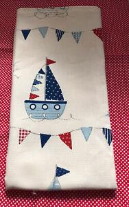 Handmade Cotton Tea Towel. Cute Sea Huts