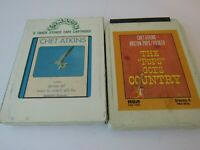 Lot of Chet Atkins 8 Track Tapes Solo Flights and The POPS Goes Country