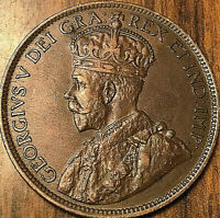 1916 CANADA LARGE CENT PENNY LARGE 1 CENT COIN - Fantastic example!
