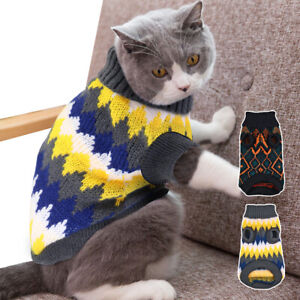 Cat Jumper for Dogs Vest Xmas Chihuahua Clothes Small Pet Puppy Sweater Yorkie