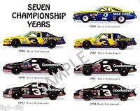 DALE EARNHARDT NASCAR RACING SEVEN CHAMPIONSHIP YEARS 8x10 PHOTO