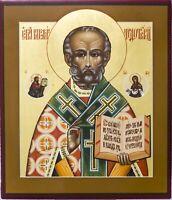 Orthodox icon Saint Nicholas, Russian icon St Nicholas, Handpainted wooden icon