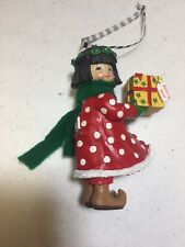 "Mary Engelbreit Miniature Ornament Figurine Girl ""Just For You�"
