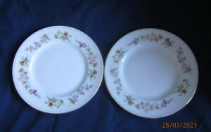 WEDGWOOD MIRABELLE R4537 2 X TEA OR SIDE PLATES 17½CM NEW
