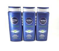 Nivea Men Maximum Hydration Moisturizing Body Wash 16.9 fl oz (3 pack) - NEW™
