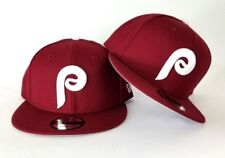 New Era MLB Cooperstown Philadelphia Phillies 9Fifty Snapback Hat Burgundy