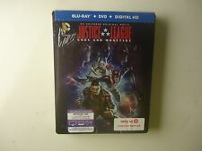 Justice League: Gods and Monsters (Blu-ray/Dvd, Uv, 2015) Target Steelbook New