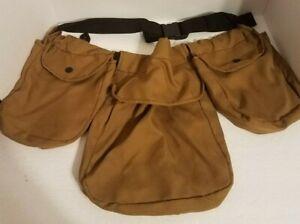 Canvas Waist Bag Pouches Hunting Fannie Pack 3 Pouches On Belt
