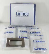 Brand New Set Of 8 Linnea Flush Recessed Pulls Stainless Steel 4 Draws & Cabinet