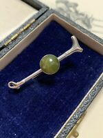 Antique Victorian Riding Crop Equestrian Brooch Silver Scottish Agate Pin