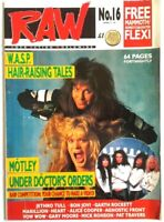 Raw 16 April 1990 WASP (Many Metal Hammer Kerrang mags also listed)
