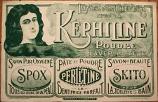 Soap, Toothpaste, Hair & Cosmetic 1910 LARGE French Advertising Blotter