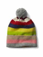 Gap NWT Crazy Stripe Pom Pom Merino Wool Blend Winter Hat One Size $30