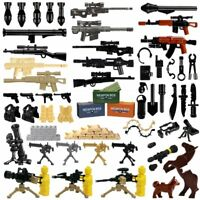 2018 Weapon Pack MOC Gun Building Blocks City Police Swat Team WW2 Soldier