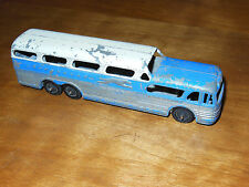 Vintage Tootsietoy Diecast Greyhound Scenicruiser Bus 50s Silver/Blue Chicago 24