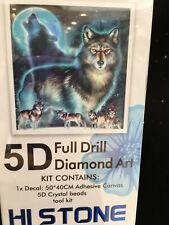 5D Full Drill Diamond Art Kit - Wolves and Moon