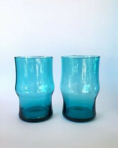 Mid Century Kaj Franck for Nuutajärvi, Finland Tumbler Glassware Pair