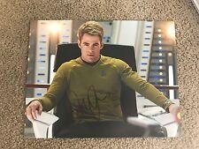 Chris Pine Autographed 11x14 Photo Star Trek Beyond Darkness Full Sig PROOF