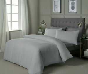 KING SIZE DUVET SET HOTEL COLLECTION'S 100% COTTON TEXTURED  WAFFLE  WHITE...