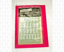 Letraset 1:32 Decals White 5/8 Inch Gothic Number Set V36-A Slot Car Numbers