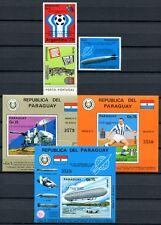 PARAGUAY 1975 Zeppelin Fußball Raumfahrt Space 2714-2716 + Block 256-258 ** MNH