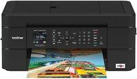 Brother Wireless All-in-One Inkjet Printer, MFC-J491DW, 8.5, Black