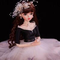 1/3 Ball Jointed Girls Doll 60cm BJD Puppe mit veränderbaren Augen Kleidung Gift