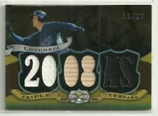 2009 Topps Triple Threads Relics Sepia #33 Evan Longoria  sn # 13/27