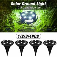 4Pcs Solar Lawn Lights Garden Decor Patio Yard Path Under Ground Landscape Lamps