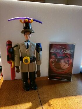 INSPECTOR GADGET MCDONALDS 1999 COMPLETE FIGURE excellent condition withVHS Tape
