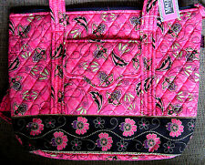 PINK MAGGI B FRENCH COUNTRY QUILTED EVERYDAY TOTE~GEO PAISLEY 11x15x4 IN PACKAGE