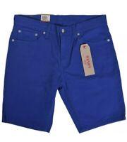 Levis 511 Men's $50 SLIM Denim Shorts Royal Blue Size 34 And 30