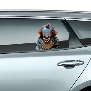 Pennywise It Peeking Car Decal Wall Window Sticker Christmas Halloween Gift Kids