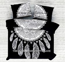 Dream Catcher Mandala Bedspread Cotton Flat Bed Sheet Cover Indian Bedding Set