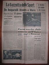 LA GAZZETTA DELLO SPORT 3/12/1964  Juventus 1  Stade Francais 0  Coppa Fiere