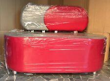 Divano 2 posti sala di attesa arredamento prodotto italiano rosso grigio