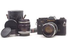 @ Ship in 24 Hrs! @ Rare Black Model! @ Canon Pellix QL Film SLR Camera + 2 Lens