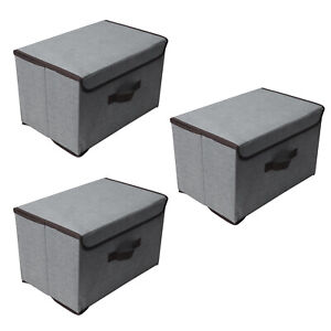 3er Set Aufbewahrungsbox Faltkiste Regalkorb Stoff Faltbar Organizer Faltbox DE