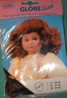 """Vintage Blond Glorex doll wig, 10"""" to 10.5"""", Switzerland"""