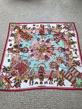 Original Hermes Cashmere Seide Tuch Kachinas140 cm NEU