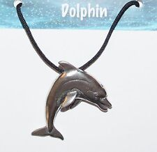 NEW EcoSmart Designs Dolphin Necklace - Pewter Charm - Made in USA