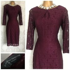 Dorothy Perkins Dress Size 10 Burgundy LaceHoliday Cruise Party Occasion Wedding