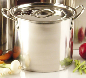 15L 20QT Stainless Steel Large Stock Pot Pan Brew Boiling Soup Cooking Casserole