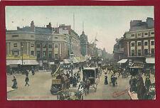 Vintage Postcard. London Regent Circus.Animated Street Scene. Charmette.G9