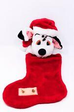 "101 Dalmatians Head Christmas Stocking 22"" Disney Plush Stuffed"