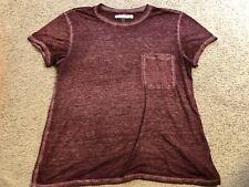 ABERCROMBIE & FITCH Burgundy Lightweight Pocket s/s Shirt Blouse Top wmns Medium