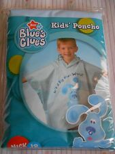 BLUES CLUES KIDS CHILD WATER RESISTANT PONCHO NICK JR 2005