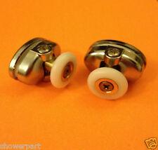 2 x Single TOP Shower Door ROLLERS /Runners /Wheels 23mm in Diameter L077-1