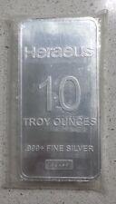 10 oz .999 Silver Bar from Heraeus